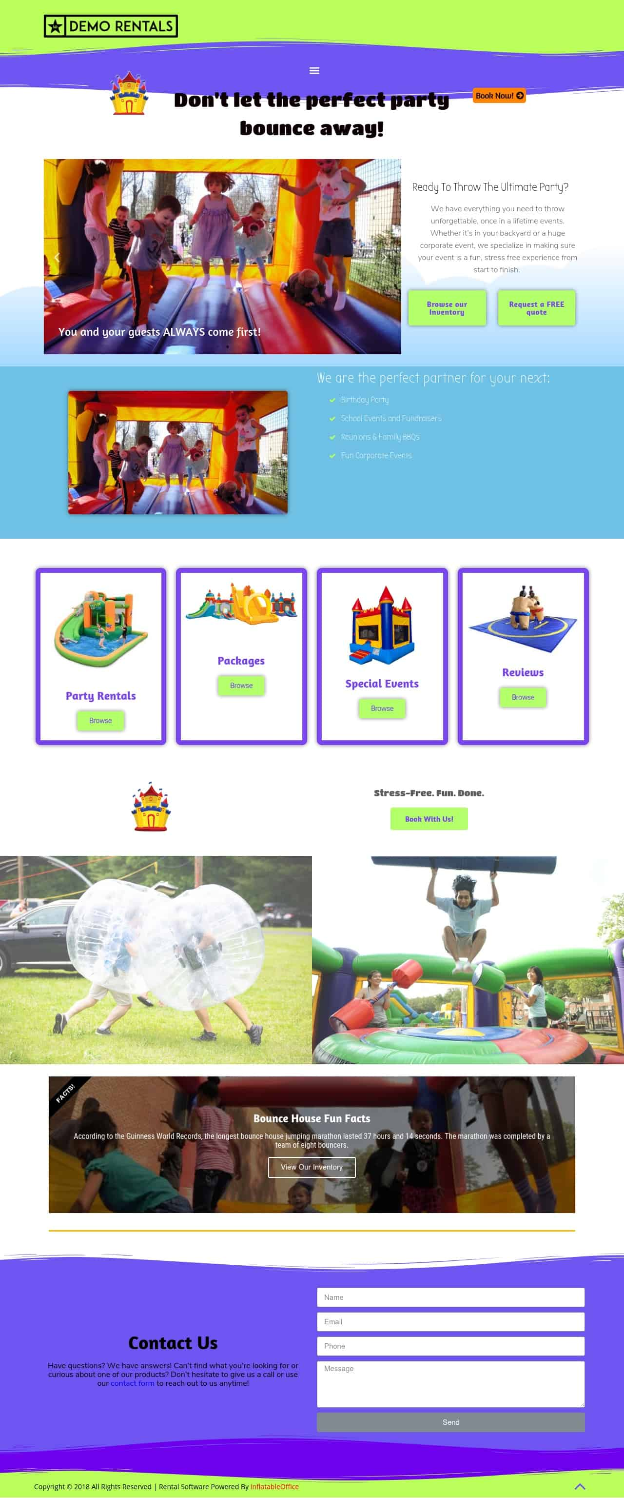 InflatableOffice Bounce Party Basic Template
